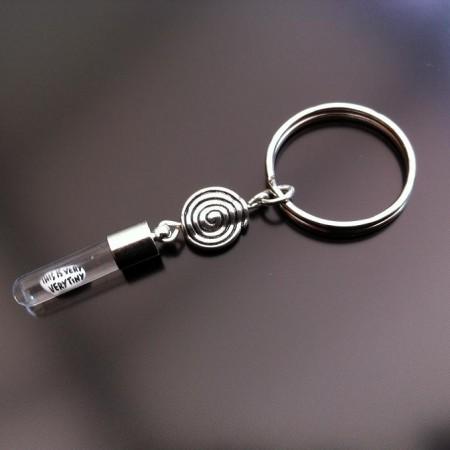 spiral rice charm key ring