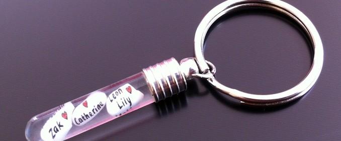 6mm x 25mm rice charm key ring