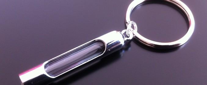 metal 5mm rice charm key ring