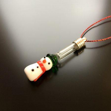 rice writing snowman rice charm christmas tree decoration
