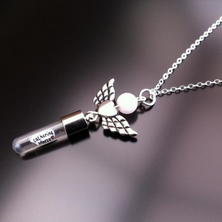 天使的翅膀心臟玫瑰石英大米的魅力上鏈,en