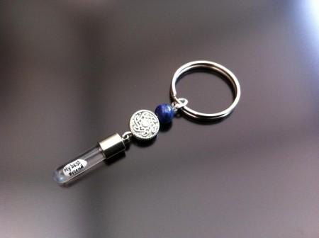 celtic lapis rice charm key ring