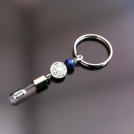 celtic Lapis Reis Charme-Schlüsselring