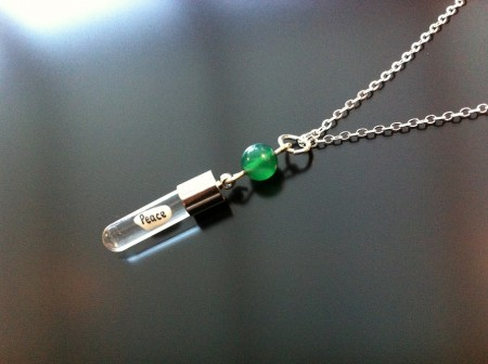 green agate rice charm on charm