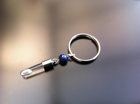 lapis rice charm key ring
