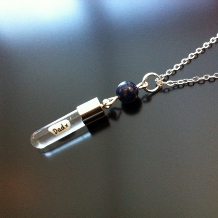 Lapis Lazuli Rice Charm on Chain