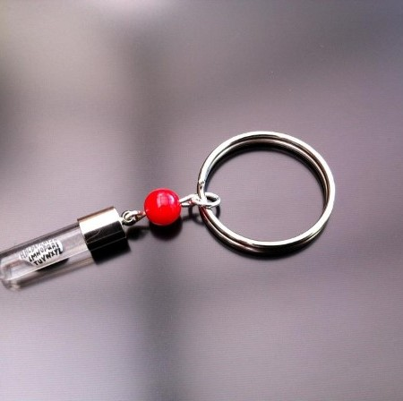 Red Coral Rice Portachiavi Charm