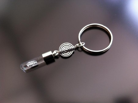 spiral rice charm key ring