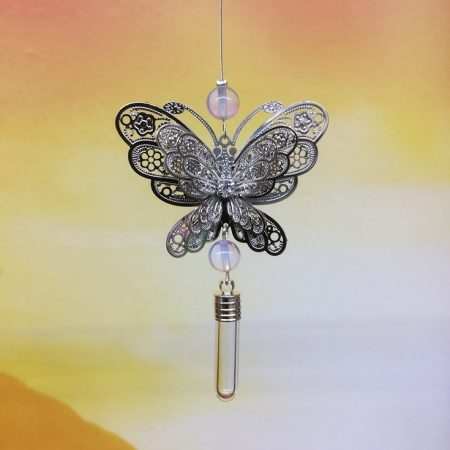 rice writing filigree large butterfly dreamcatcher rice charm withopalite crystal