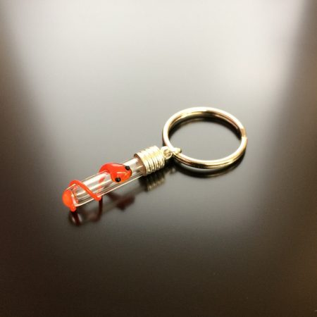 rice writing red snake rice charm keyring