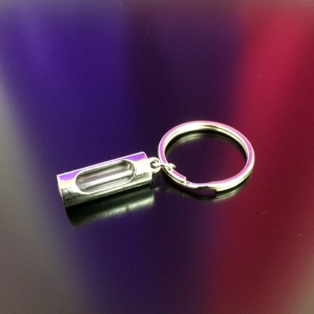 rice writing metal rice charm key ring 20mm